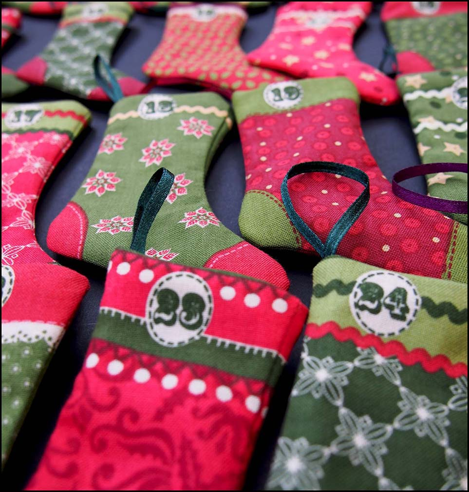 Christmas Stocking Advent Bunting