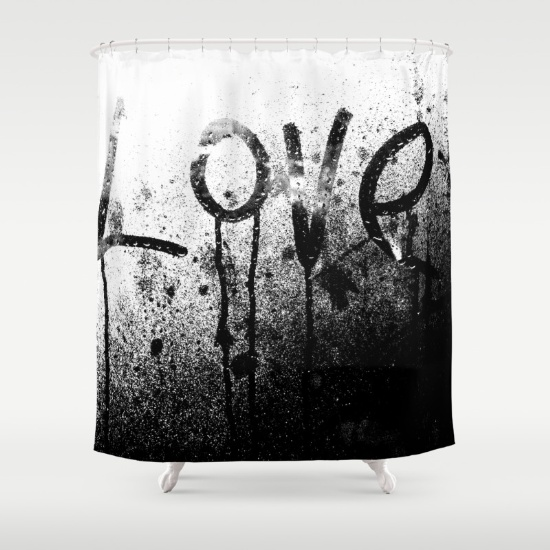 'BIG LOVE' shower curtain, Society6