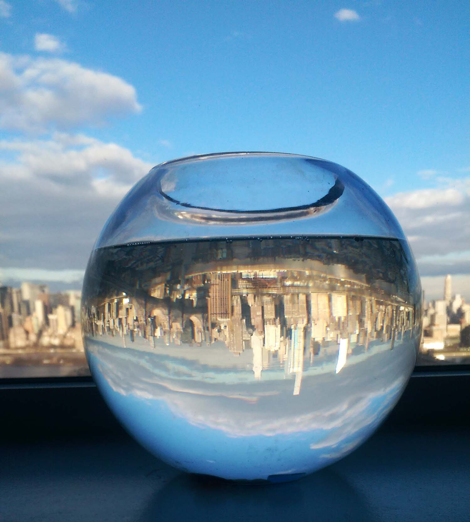 New York City/Manhattan Skyline in a fish bowl