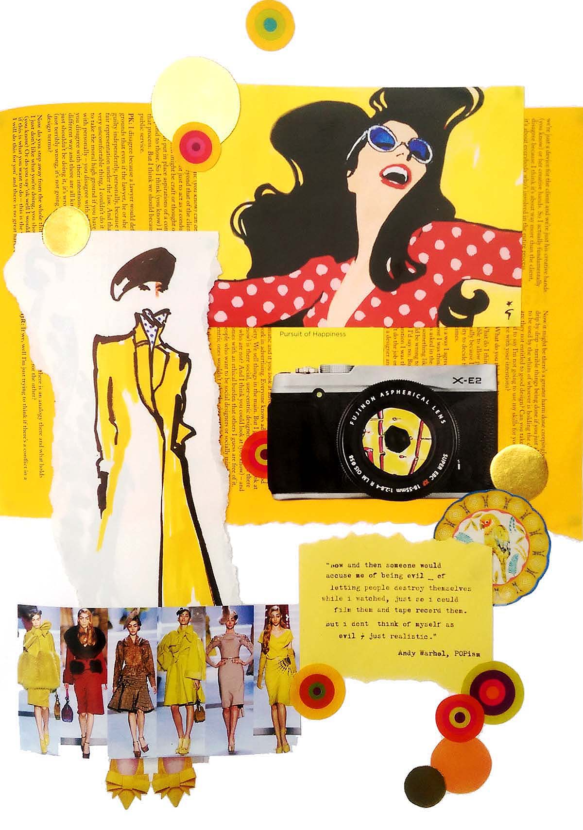 YELLOW themed collage