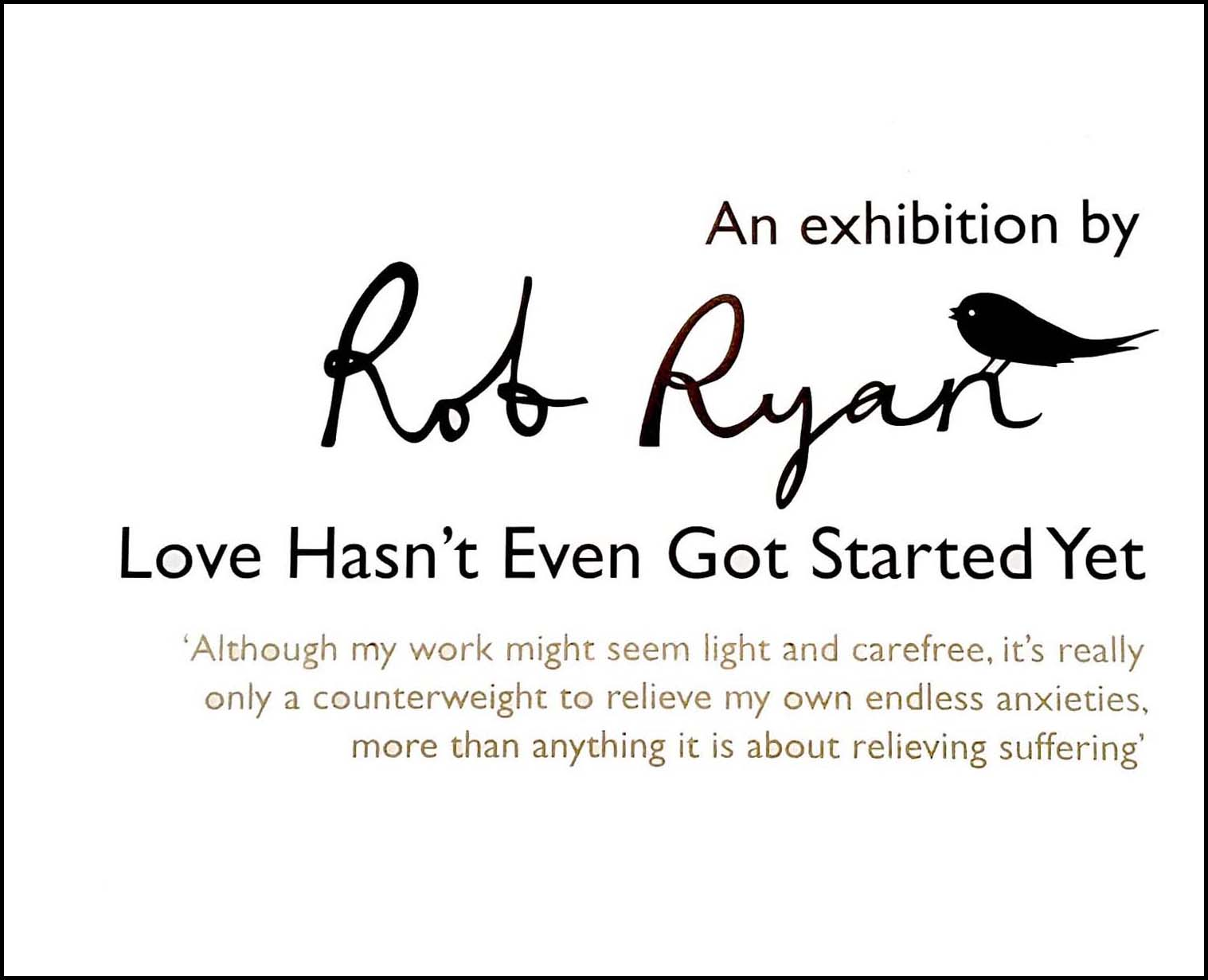 Rob Ryan 'Love Hasn't Even Got Started Yet', Park Gallery, Falkirk