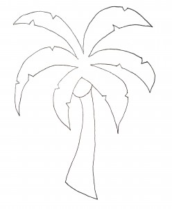 Palm Tree Line Drawing