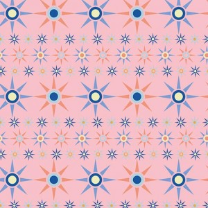 French Riviera SS17 'Pink Ship's Wheel' surface pattern design