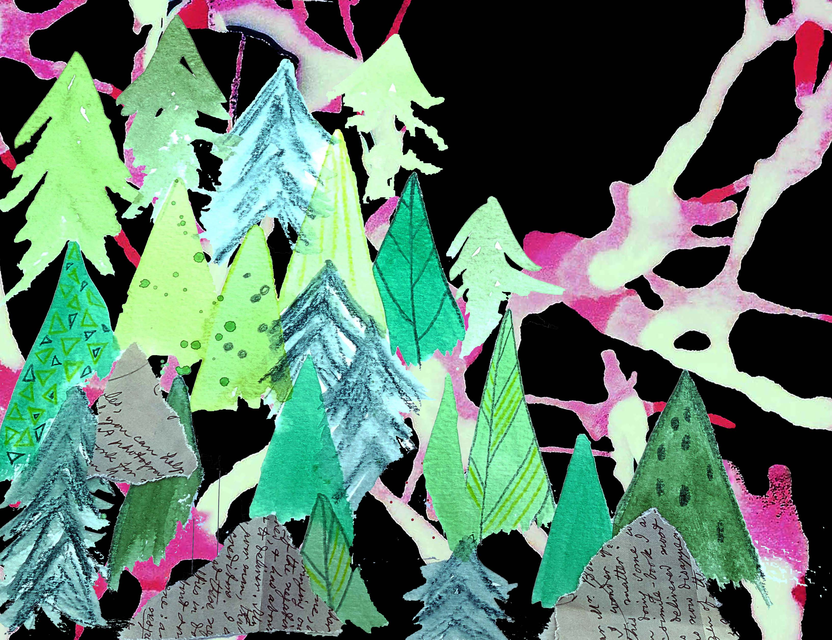 Psychedelic Forest: a digital collage