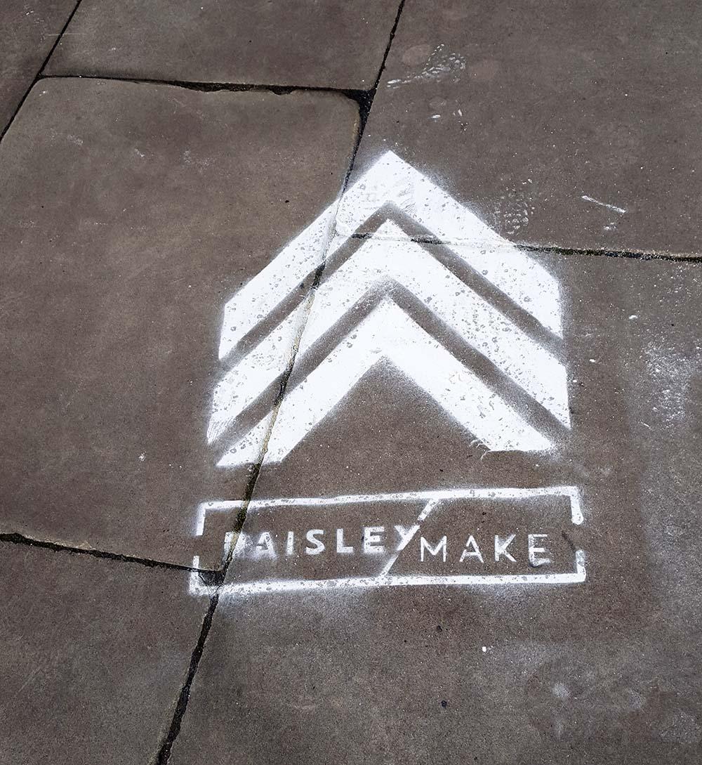 PaisleyMake street signs, Paisley