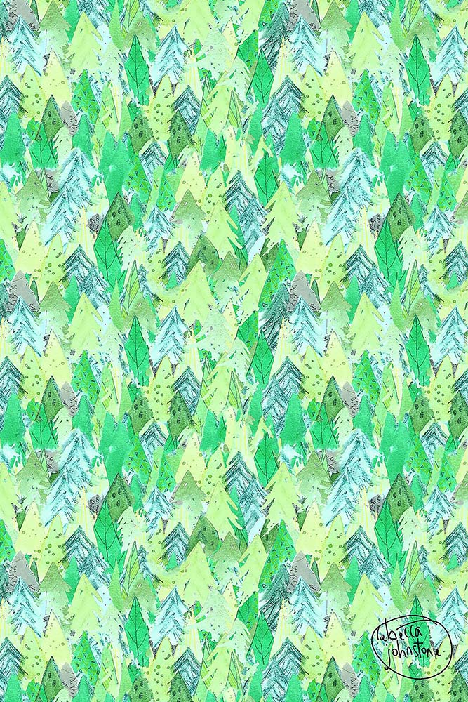 'Green Forest' Repeating Pattern
