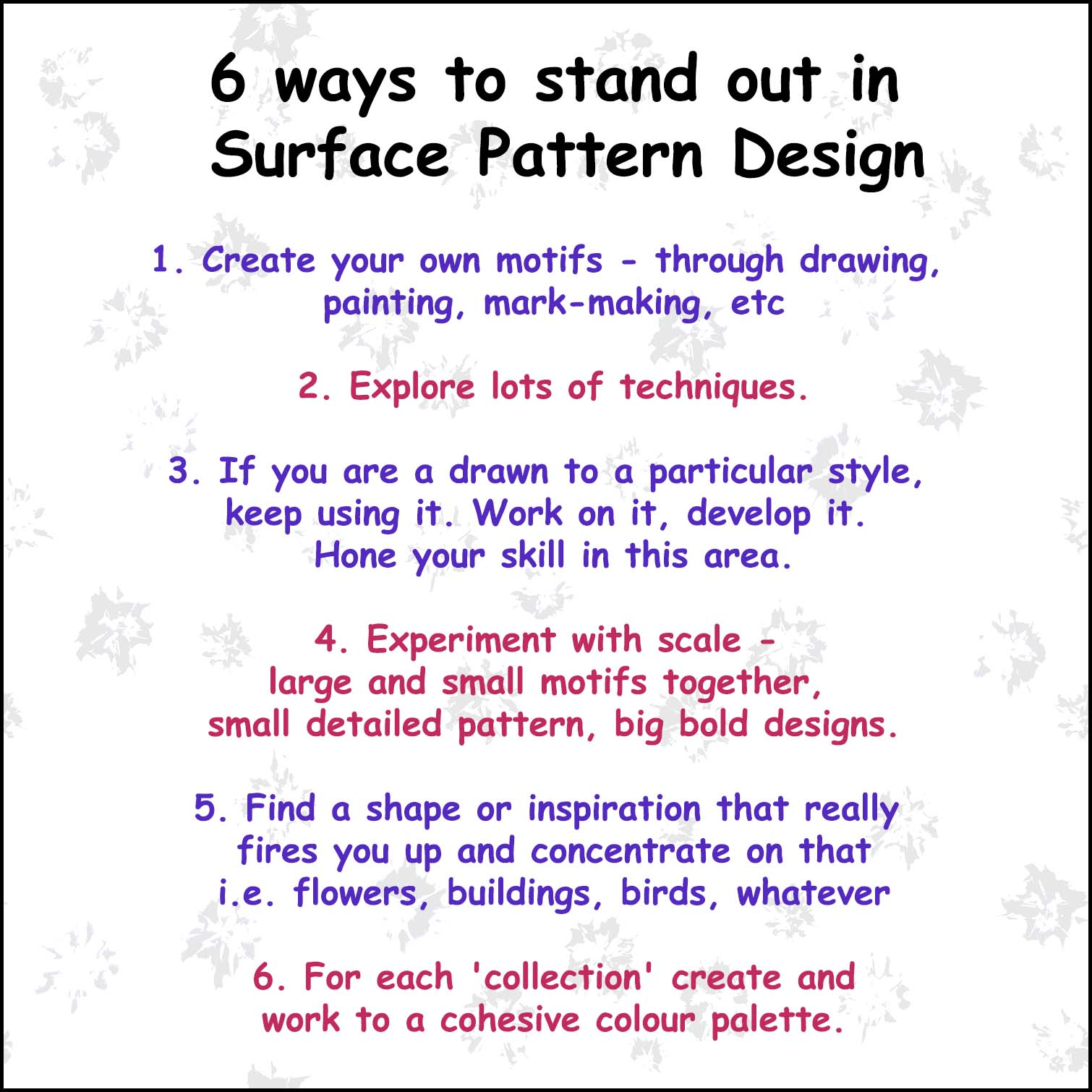 How to stand out in Surface Pattern Design