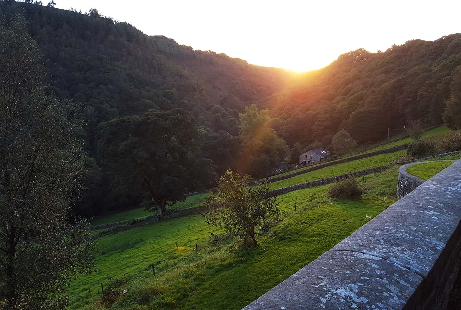 Sunset at the Ted Hughes house, Lumb Bank, October 16