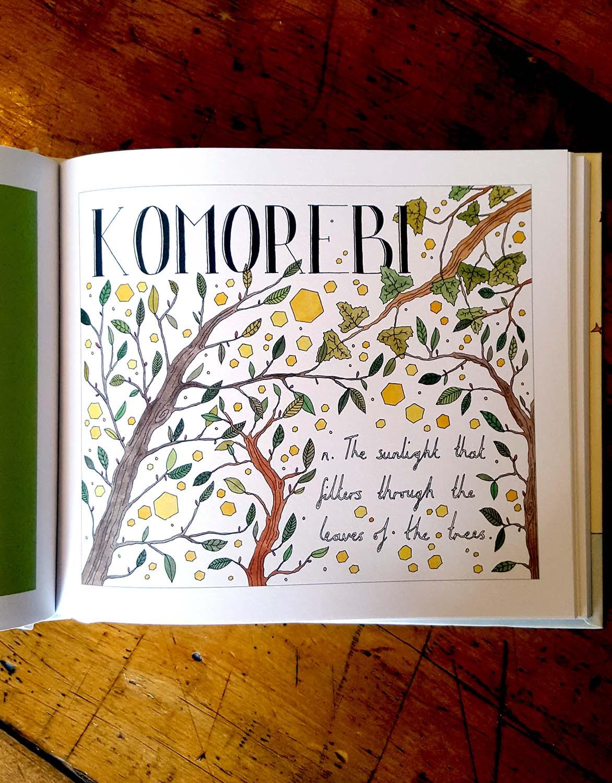 'Leafology' inspiration, Book Art, Lumb Bank, October 16