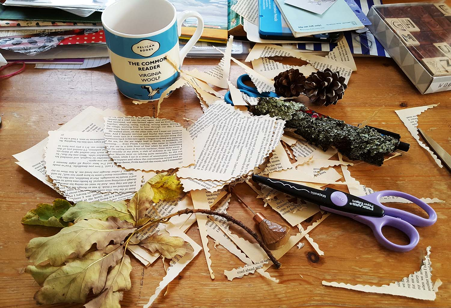 Creativity in action on the Book Art course, Lumb Bank, October 16