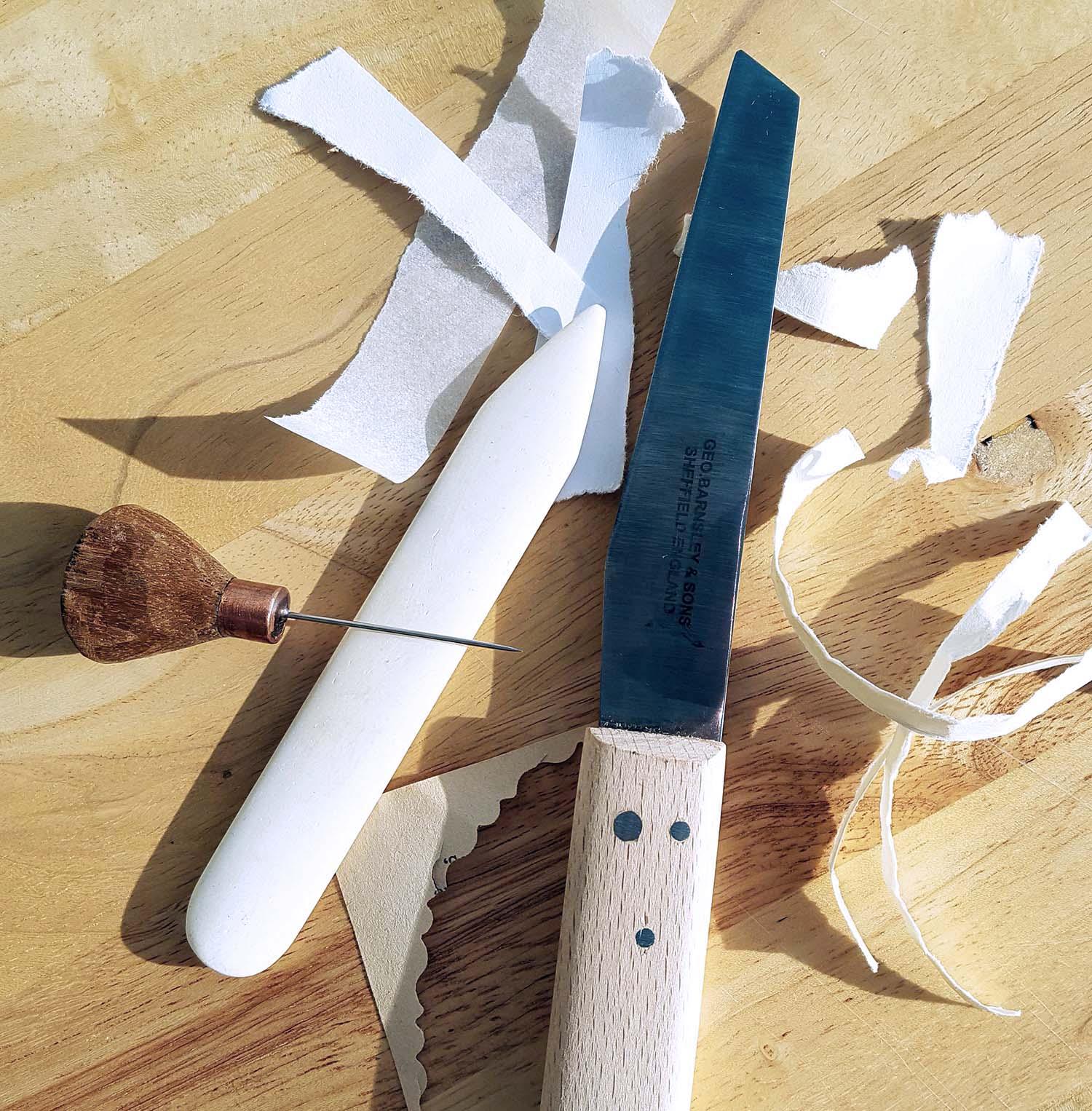 Book Art tools, Lumb Bank, October 16