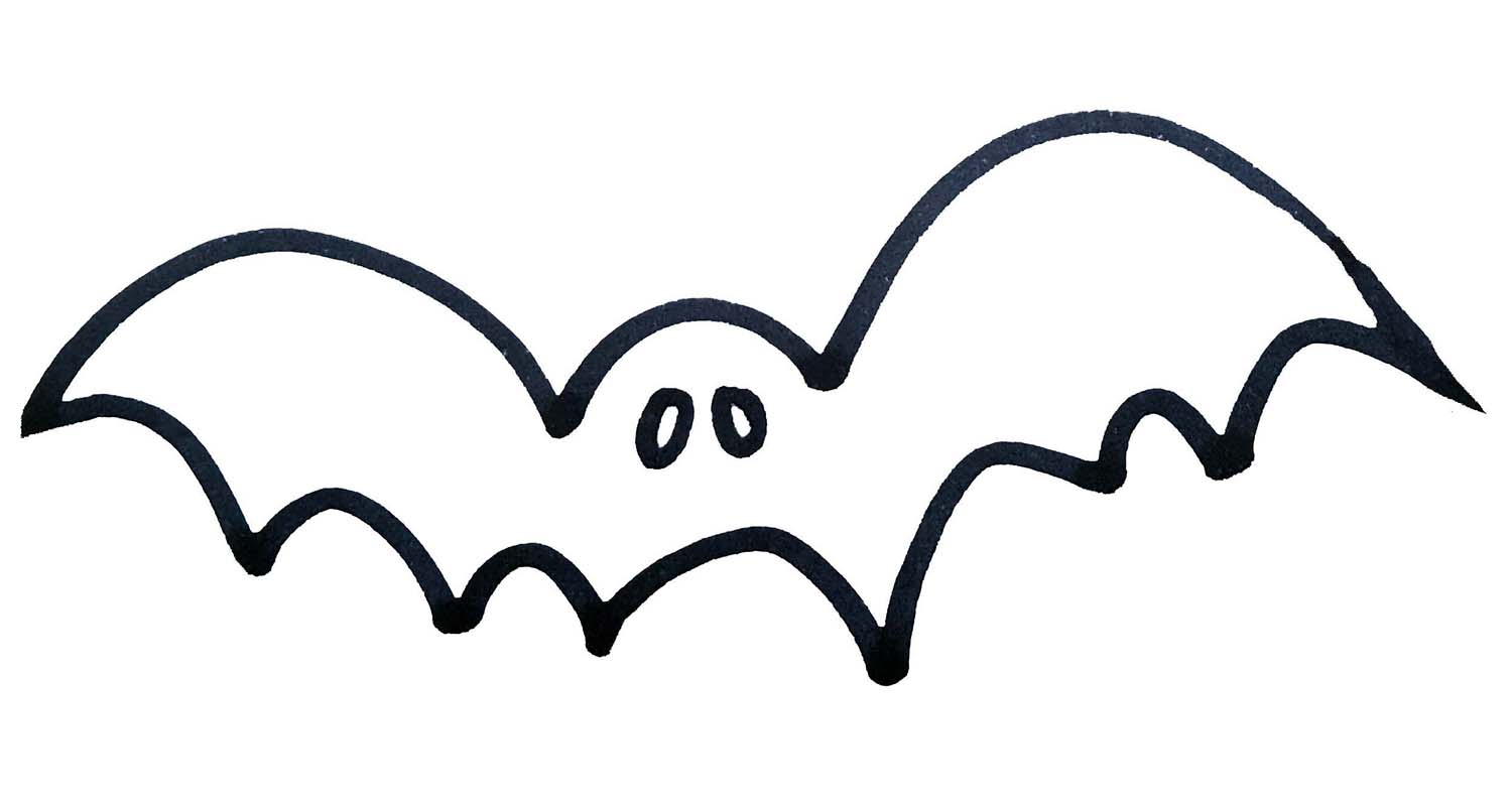 Halloween Bat, free colouring page download, Dainty Dora's Inspiration Emporium