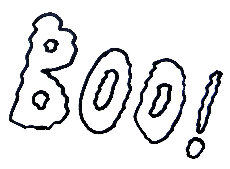 'Boo!' Halloween Pattern, Dainty Dora's Inspiration Emporium
