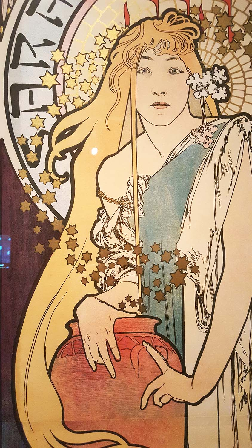 Sarah Bernhardt, Mucha 'In Quest of Beauty' exhibition, Autumn 2016