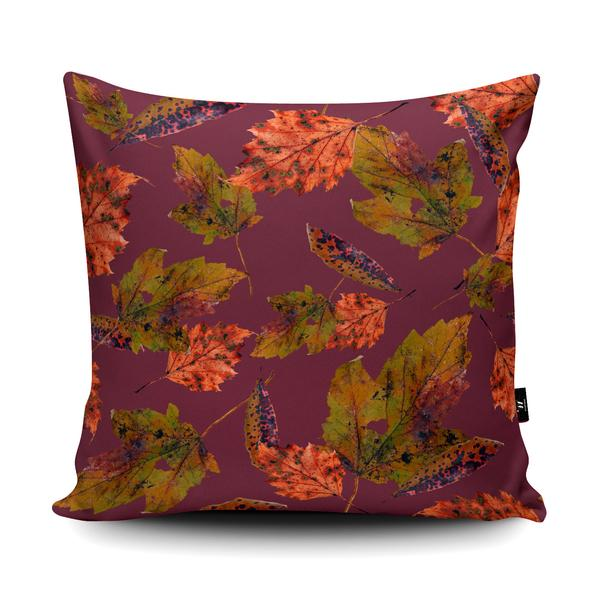 'Oh So Autumn Leaves' Pattern Design in the Wraptious Cushion Competition