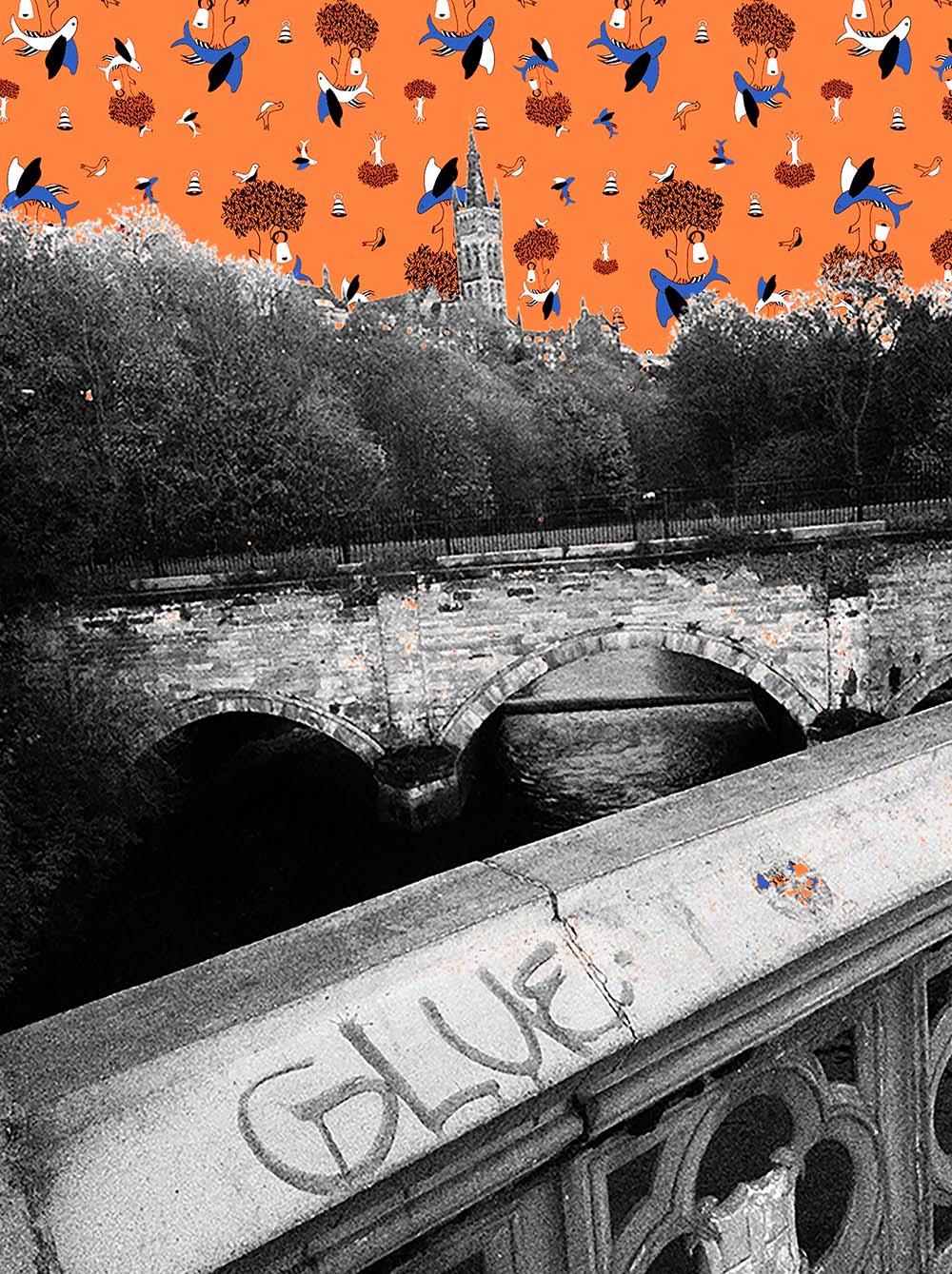 Glasgow Pattern-Bombed Print, Rebecca Johnstone/Dainty Dora