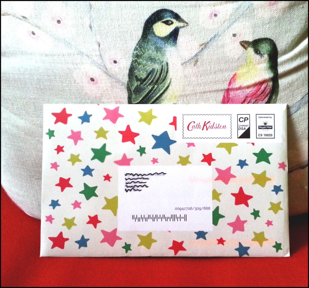 Bright & Happy Coloured Envelope (with stars!)