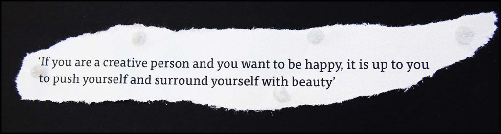Surround yourself with beauty for creativity quote