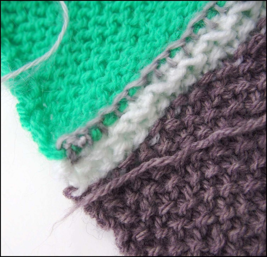 Knitted squares blanket - work in progress