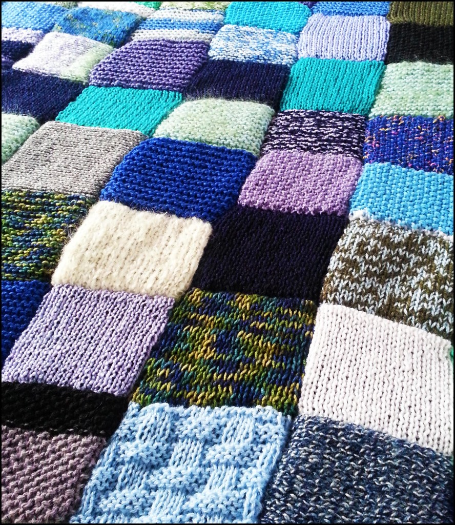 Knitted 'emotional' blanket