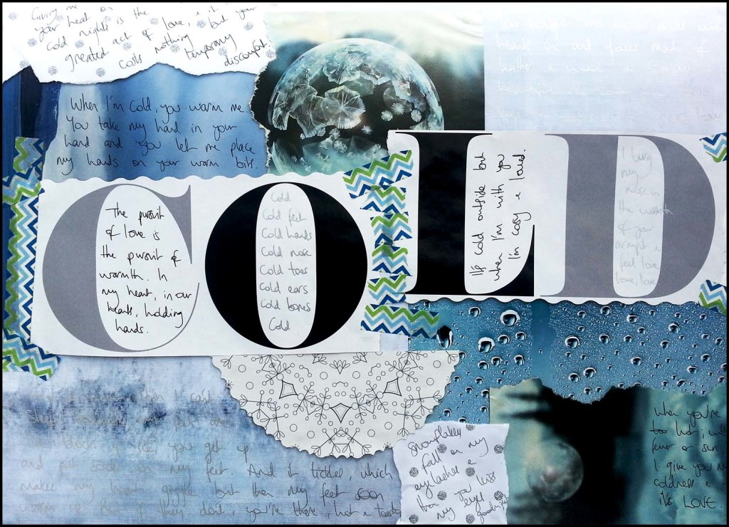 Season of Love Art Journal Page: COLD