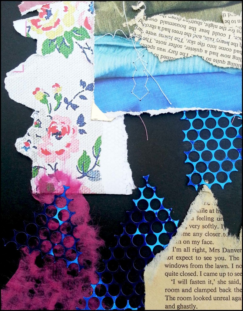 Sewing love into the seams, art journaling
