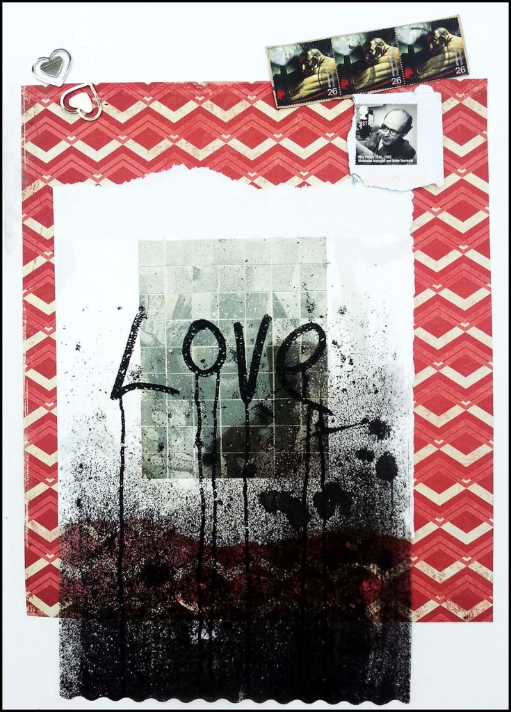 Art journaling LOVE page