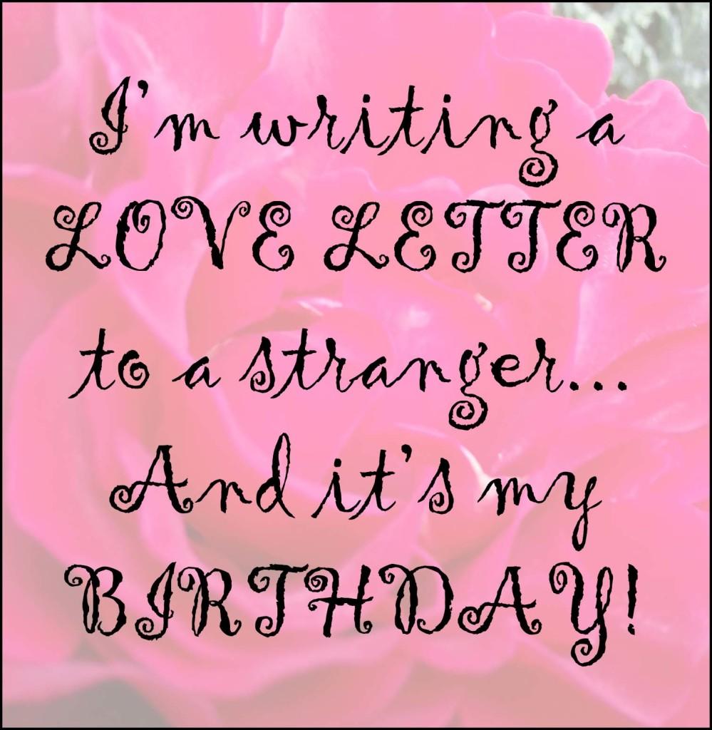 Love Letter to a Stranger