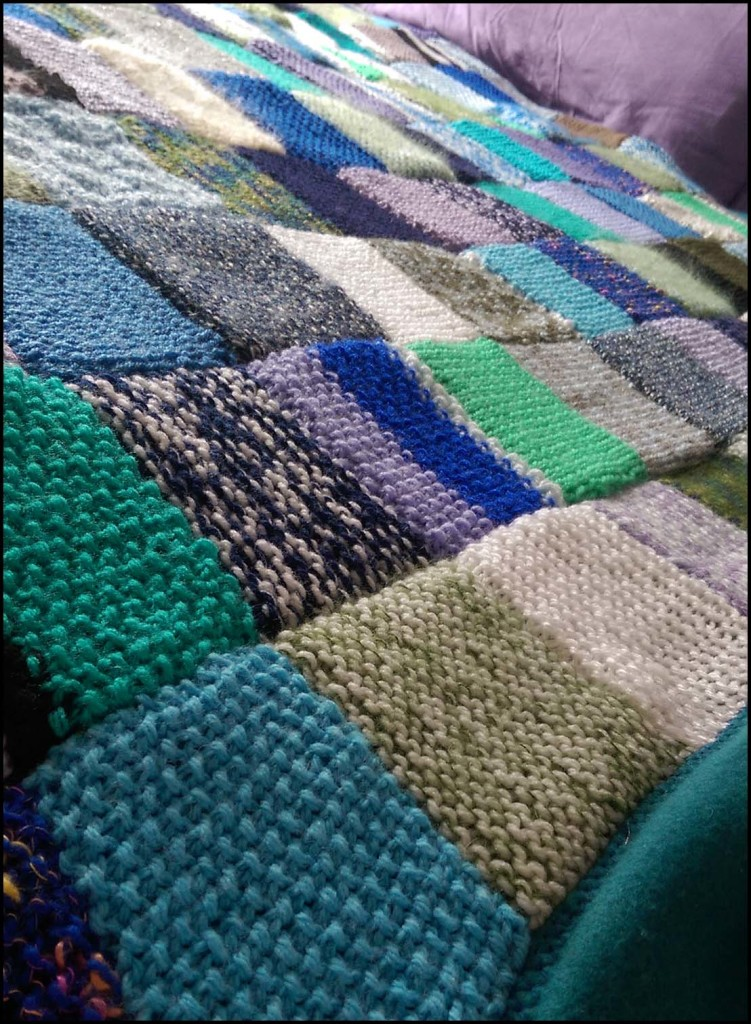 Knitted 'emotional' blanket - finished!