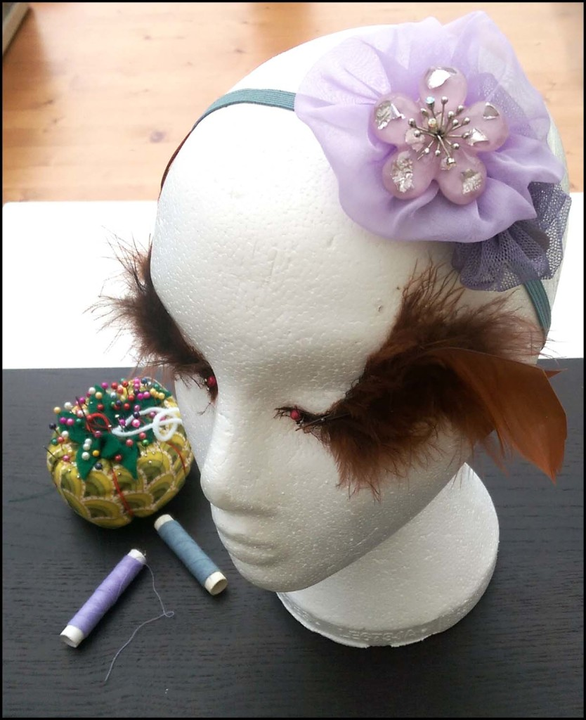 Floral Hairband side view
