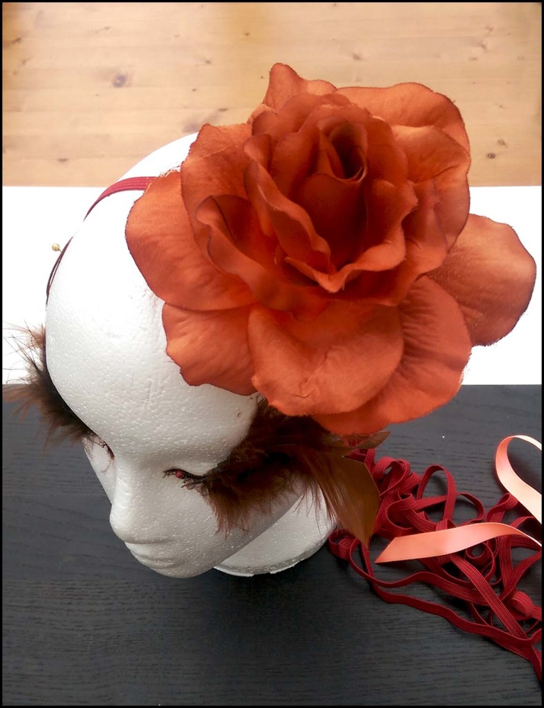 Orange Floral Hairband