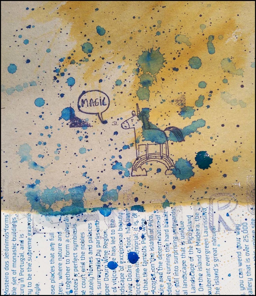 Get Messy Art Journal Game Day 4