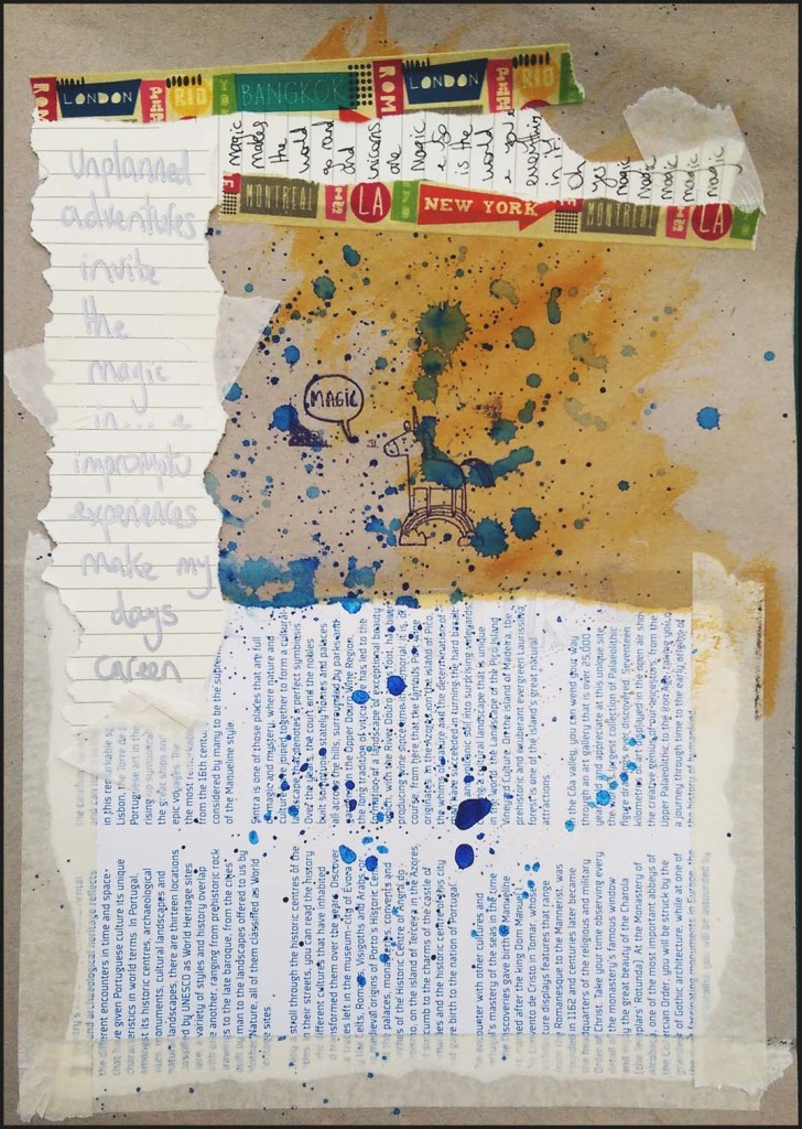 Get Messy Game Art Journal Page - Final Day