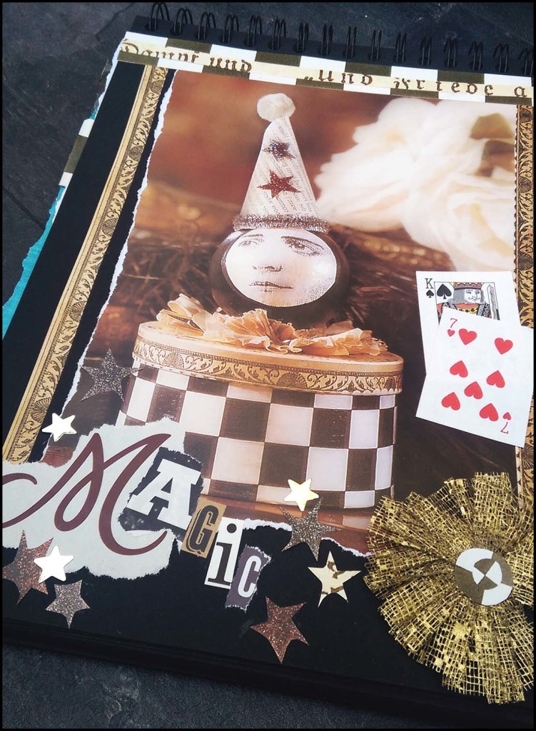 Season of Magic Pierrot Art Journal Page