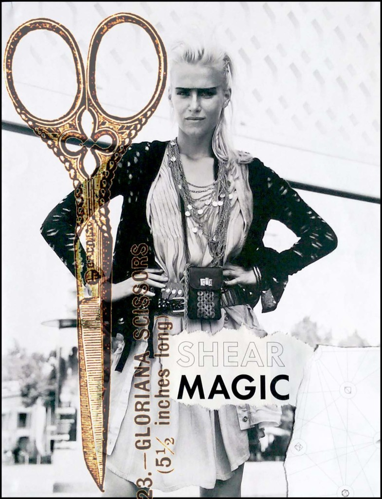 Shear Magic (with vintage scissors)